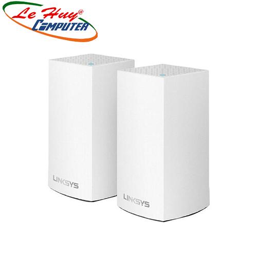 Thiết bị mạng - Router Linksys WHW0102 AC2600 Dual-Band Intelligent Mesh WiFi System(Bộ 2 Cái)