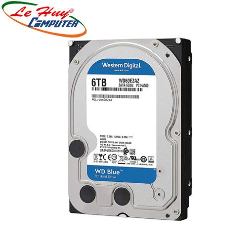 Ổ Cứng HDD Western 6TB BLUE - SATA (6Gb/s) - 5400 Rpm,256M- WD60EZAZ