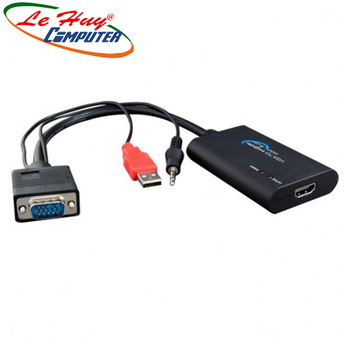 Cáp VGA + USB + audio ra HDMI M-Pard MD-008