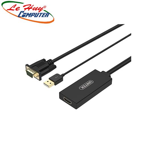 CÁP VGA + USB -> HDMI UNITEK (Y-8711)