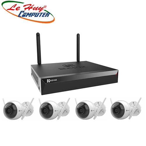 Bộ Kit camera IP Wifi EZVIZ CS-BW3824B0-E40 (4 camera CS-C3WN và 1 đầu ghi CS-X5S-8W)