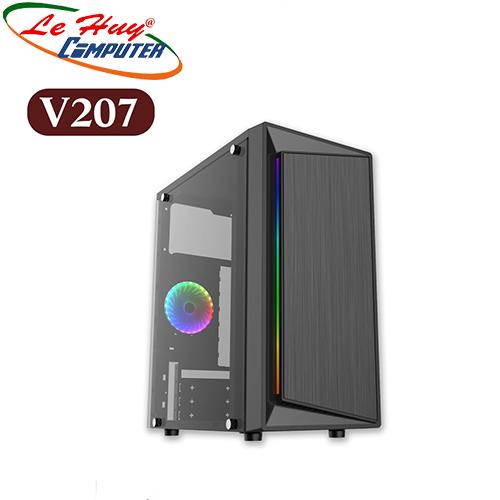 Vỏ máy tính VSP V207 GAMING LED RGB USB 3.0(chưa gồm fan)