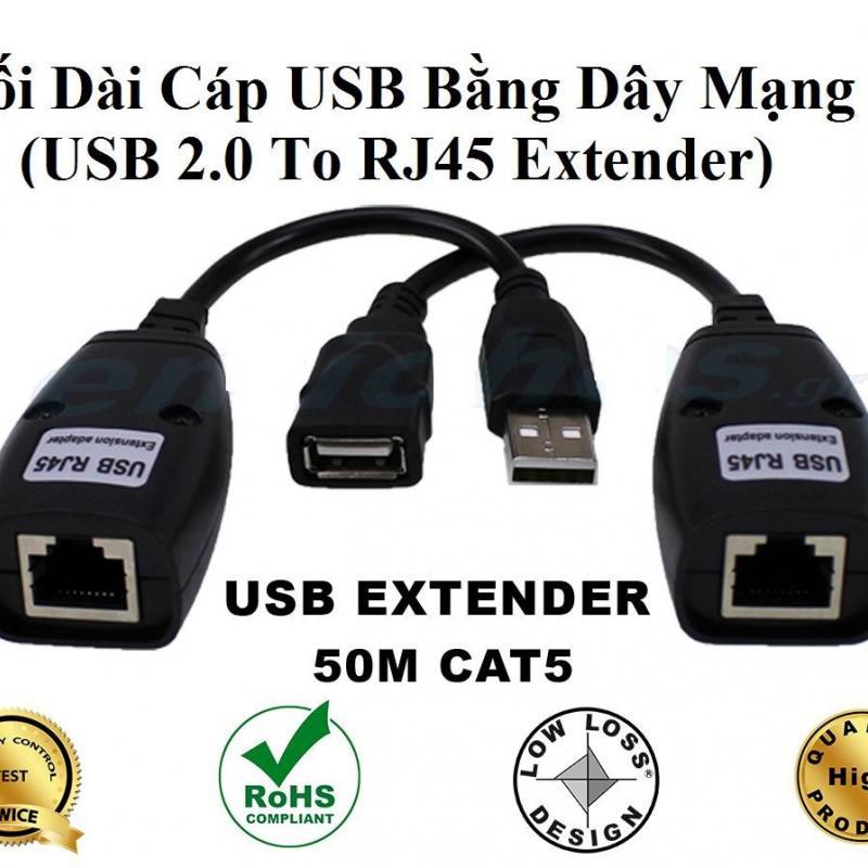 USB Extender 50M (Bộ Nối Dài Cáp USB bằng Dây LAN)