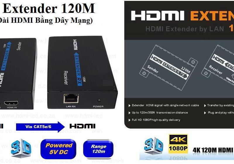 HD Extender 150M (Nối Dài HDMI bằng Dây LAN 150m)