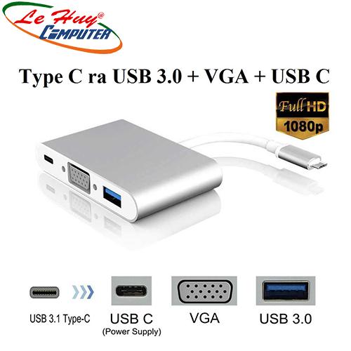 Cáp Chuyển Type-C ra USB 3.0/VGA/Type-C