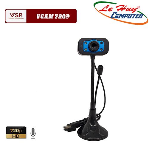 Webcam VSP 720p HD Chân Cao Có Mic Có Đèn