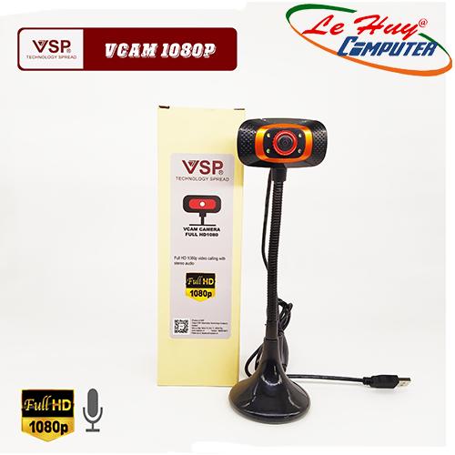 Webcam VSP 1080p FullHD Chân Cao Có Đèn