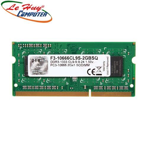Ram Laptop GSKILL 2GB/1333 F3-10666CL9S-2GBSQ