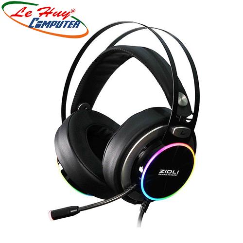Tai nghe Over-ear Zidli ZH20 7.1, RGB (Đen)