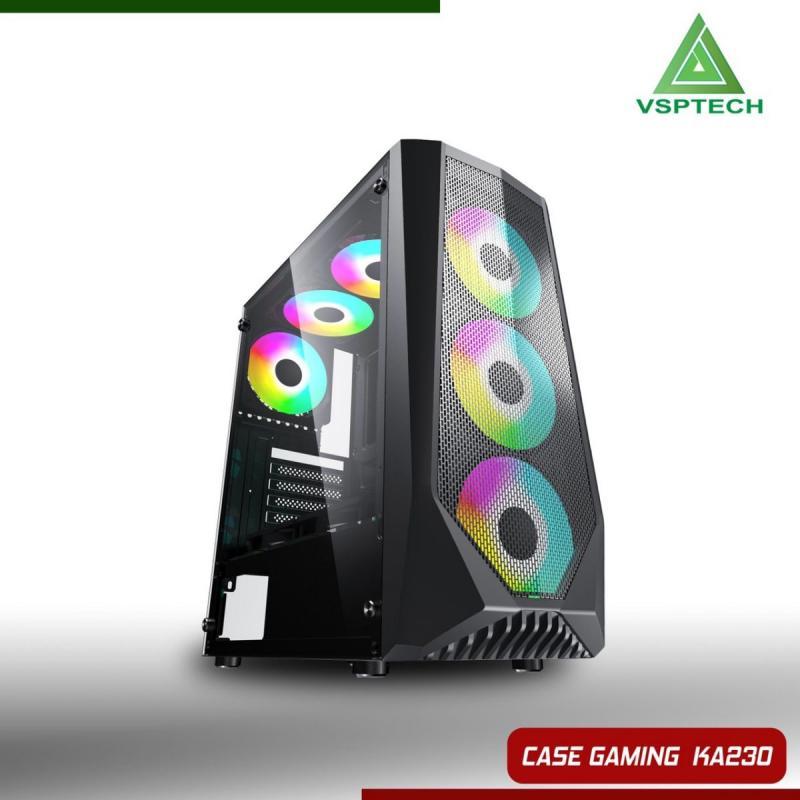 Vỏ máy tính VSP KA230 - Kính cường lực( chưa kèm Fan)