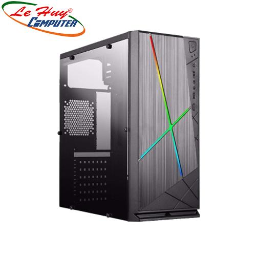 Vỏ máy tính VSP V3-608 LED RGB Full Kính bên hông trong suốt