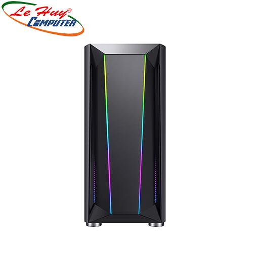 Vỏ máy tính VSP Gaming B16 LED RGB Kính Cường Lực Trong Suốt
