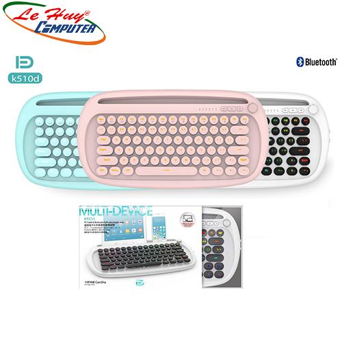 Bàn phím FD K510d Mini tích Hợp USB Dây + Bluetooth + Pin Sạc + LED