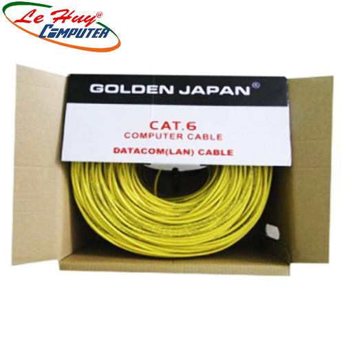 CÁP MẠNG GOLDEN JAPAN 4 PAIR SFTP CAT6 (Màu Vàng)