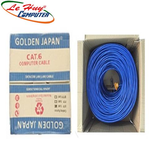 CÁP MẠNG GOLDEN JAPAN 4 PAIR FTP CAT6 (Màu xanh dương)