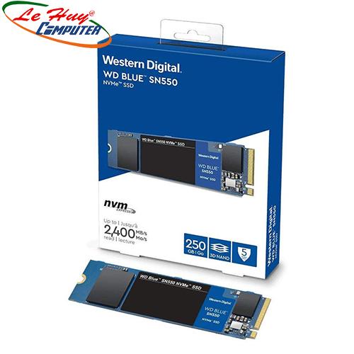 Ổ cứng SSD Western Digital SN550 Blue 250GB M.2 2280 PCIe NVMe 3x4 (G2B0C)