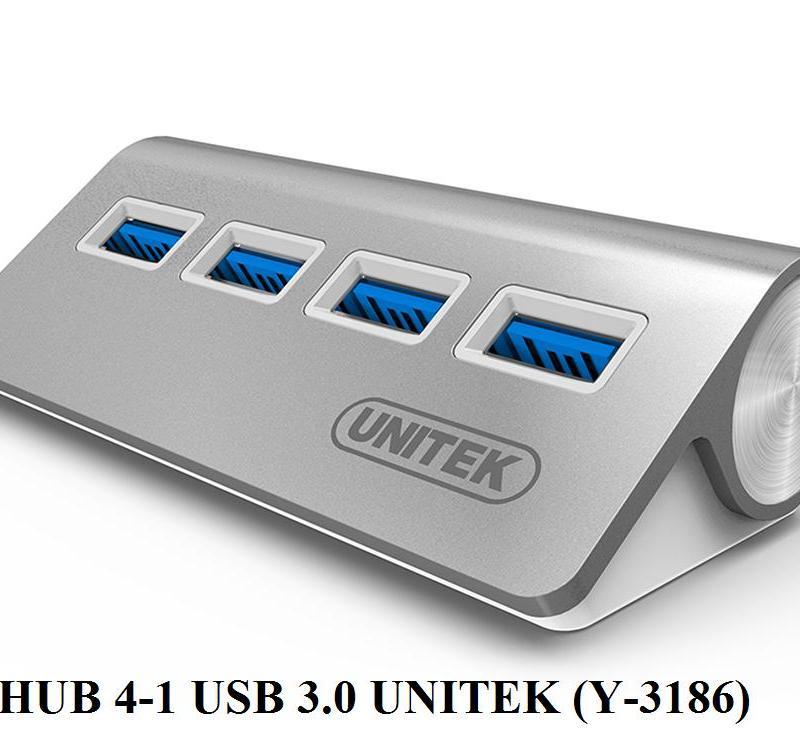 Hub Chia USB 4 Cổng Chuẩn 3.0 Unitek Y3186