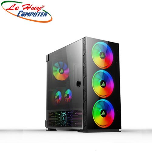 Vỏ máy tính VSP FA-401 eSPORT Gaming (Có fan RGB 14cm)