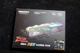 Ram Máy Tính Kingmax 16GB DDR4 3600 Zeus Dragon RGB - Chính hãng