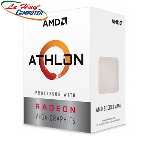 Bộ vi xử lý - CPU AMD Ryzen Athlon 3000G 3.5GHz / 2 nhân 4 luồng / Radeon™ Vega 3 Graphics(bán kèm main amd)