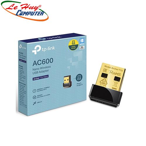 Bộ thu sóng Wifi TP-Link  Archer T2U(AC600) NANO 600Mbps