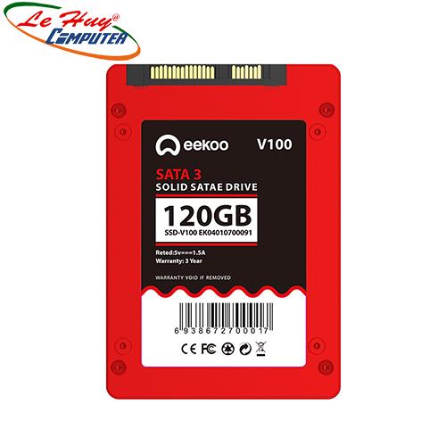 SSD 120G EEKOO V100 chính hãng Vinabox (vỏ nhôm, màu đỏ)