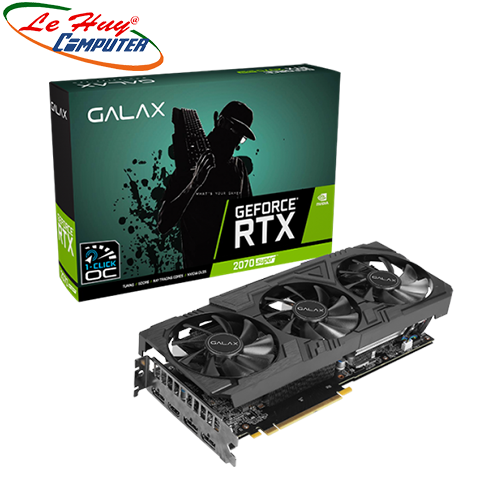Card Màn Hình - VGA GALAX GeForce RTX 2070 Super EX Gamer Black Edition 8GB GDDR6
