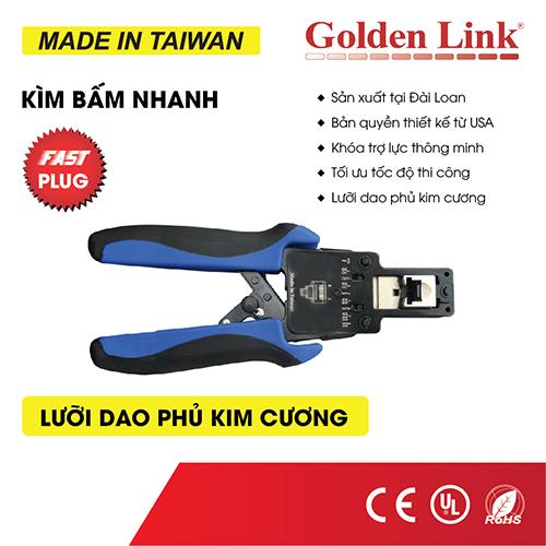 Kềm bấm cáp mạng Nhanh(xuyên thấu) Golden Link TAIWAN GL-2005FC