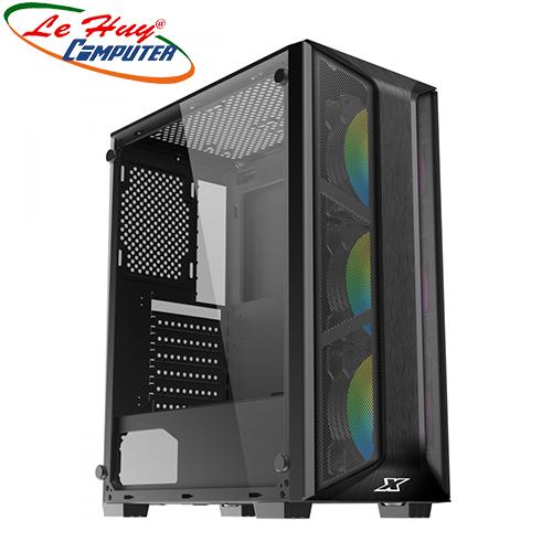 Vỏ máy tính XIGMATEK TRIO 3FC (EN45686) - GAMING ATX, KÈM 03 FAN XIGMATEK X20C RGB