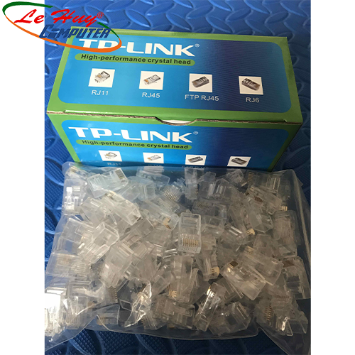 Hạt mạng RJ45 TP-Link CAT 5 UTP 1 hộp 100 đầu hạt