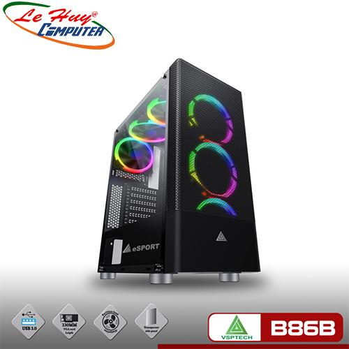 Vỏ máy tính VSP Gaming B86B Black (No Fan)