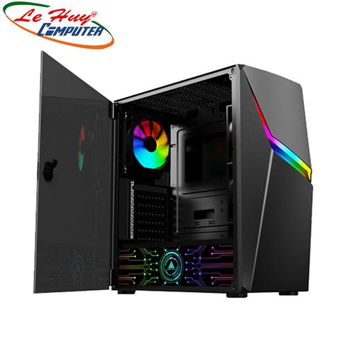 Vỏ máy tính VSP FA-400 eSPORT Gaming (Có Sẵn 01 FAN Led RGB/ LED Cover Nguồn)
