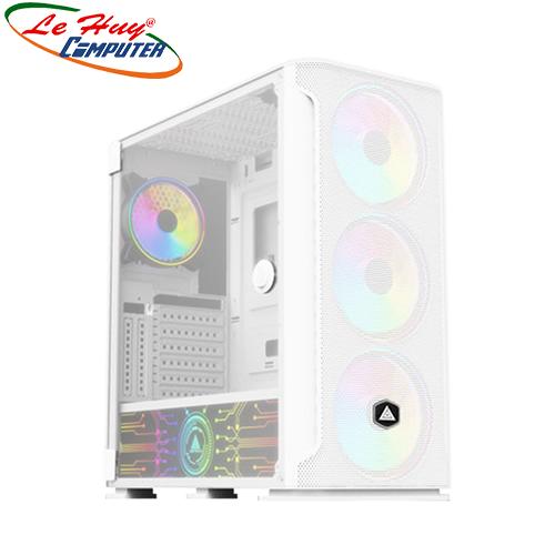 Vỏ máy tính VSP FA-404W Gaming (Có Sẵn 4 Fan LED RGB/ LED Cover Nguồn)