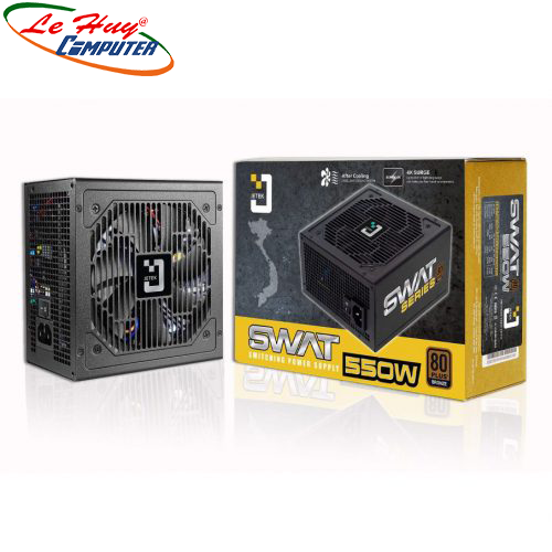 Nguồn máy tính Jetek SWAT 550W 80 Plus Bronze