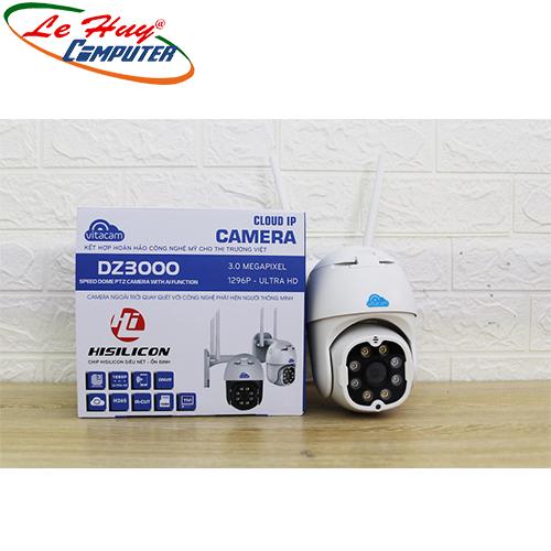 Camera PTZ VITACAM DZ3000 - 3.0Mpx độ phân giải 1296P Ultra HD siêu nét