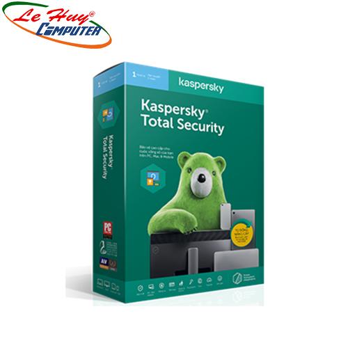 Phần mềm diệt virus Kaspersky Total Security (1 PC, 1 Năm)