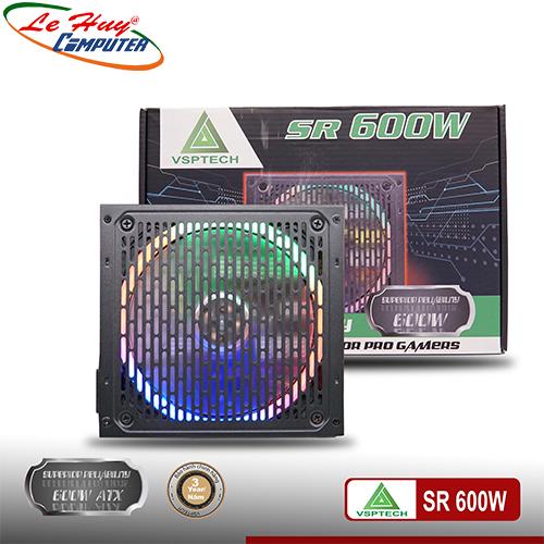 Nguồn máy tính VSP SR 600W FAN LED RGB