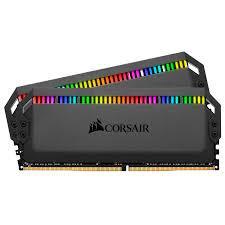Ram Máy Tính Corsair DDR4 3200MHz 16GB (2x8GB) DIMM, CL16 DOMINATOR PLATINUM RGB Black Heatspreader, RGB LED