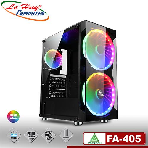Vỏ máy tính VSP FA-405 eSPORT (Có Sẵn 2 Fan 20cm LED ARGB)