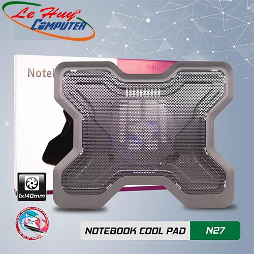 Đế tản nhiệt Laptop VSP Cooler N27 (1*Fan 14cm)