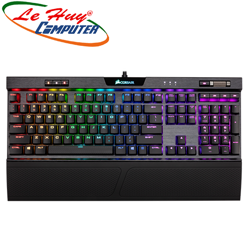 Bàn phím cơ Corsair K70 RGB MK.2 Low Profile MX Red (CH-9109017-NA)
