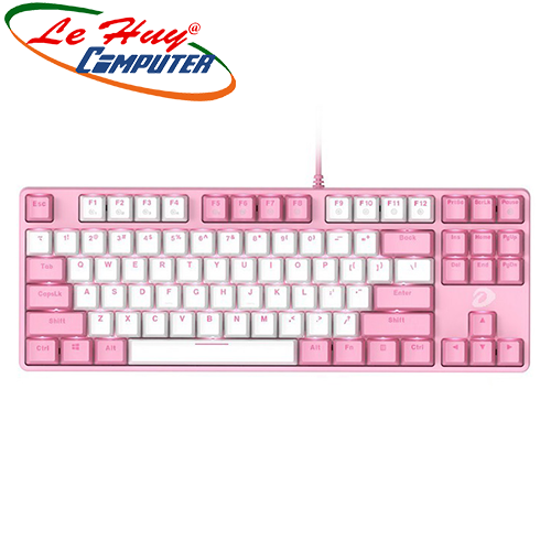 Bàn phím cơ DareU EK87 Pink White Multi LED Brown/Red/Blue switch