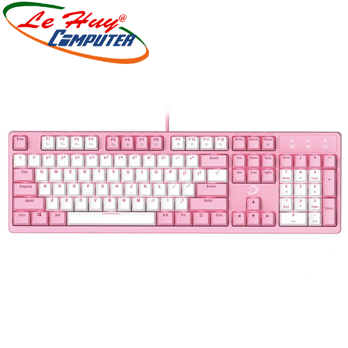 Bàn phím cơ DareU EK1280s Pink White Blue/Red/Brown switch