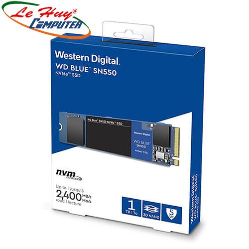 Ổ cứng SSD Western Digital Blue 1TB SN550 NVMe PCIe Gen3x4 8 Gb/s WDS100T2B0C