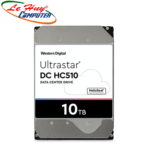 Ổ Cứng HDD ENTERPRISE WD Ultrastar DC HC510 10Tb 3.5Inch 7200rpm 6Gbs SATA 256MB - HUH721010ALE604