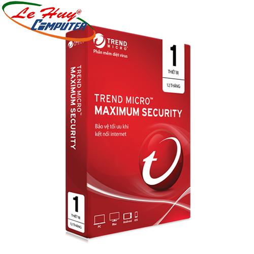 Phần mềm diệt virus Trend Micro Maximum Security - 1PC