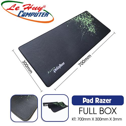 Miếng lót chuột Razer Lớn May Viền 300x700x3mm - Full Box
