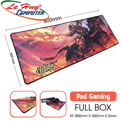 Miếng lót chuột Gaming Nhiều Hình May Viền 300x800x3mm - Full Box