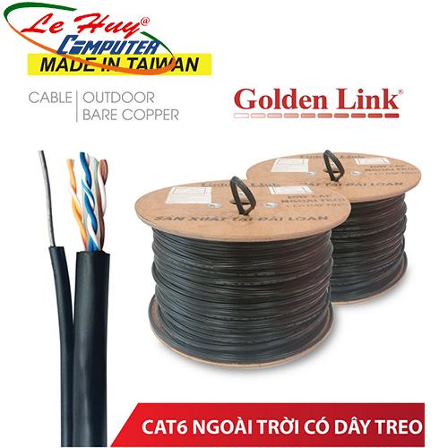 CÁP MẠNG GOLDEN LINK - 305m UTP CAT6 đồng nguyên chất có dây thép treo ngoài trời