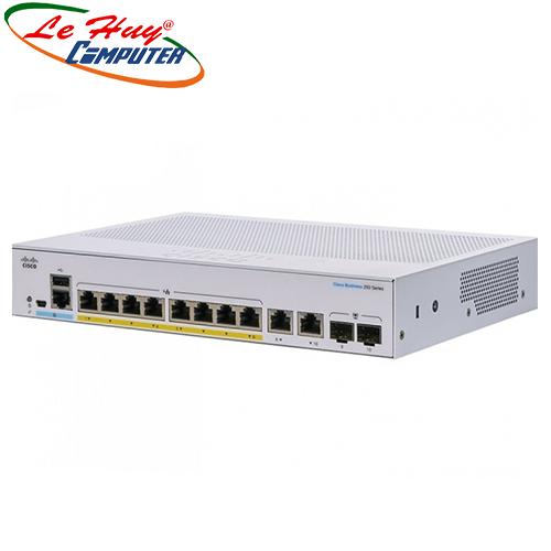 Thiết bị chuyển mạch Switch CISCOCBS250-8P-E-2G-EU 8-port GE, PoE, Ext PS, 2x1G Combo